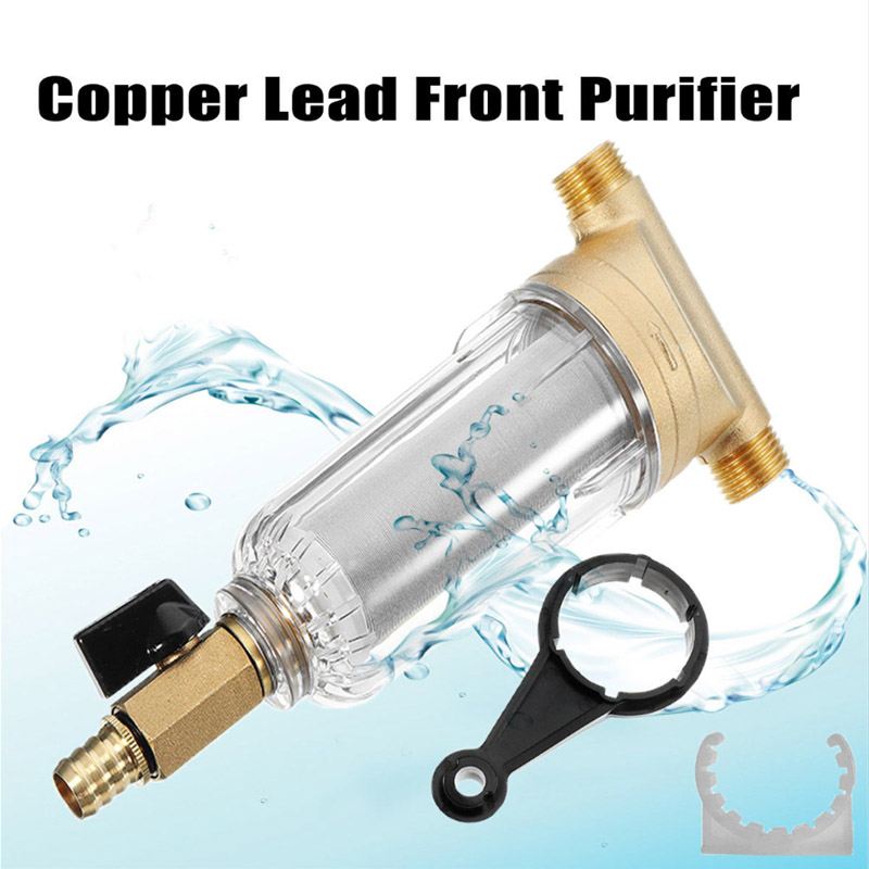 High Quality Water Filters Front Purifier With spanner Copper Lead Pre-filter Backwash Remove Rust Contaminant Sediment PipeHigh Quality Water Filters Front Purifier With spanner Copper Lead Pre-filter Backwash Remove Rust Contaminant Sediment Pipe