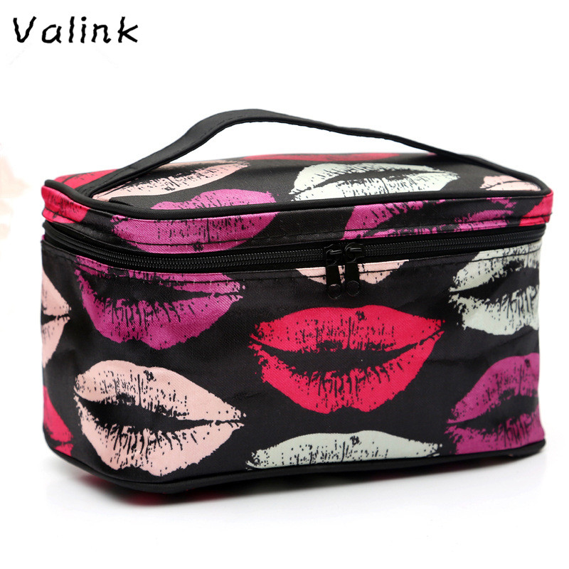 Cosmetic box 2017 New female Quilted professional cosmetic bag women's large capacity storage handbag travel toiletry makeup bag new women fashion pu leather cosmetic bag high quality makeup box ladies toiletry bag lovely handbag pouch suitcase storage bag