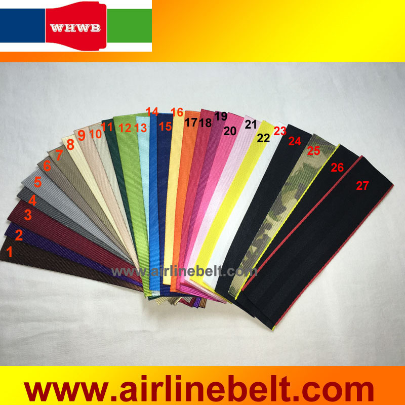 48mm width Standard seat belt webbing color chip car auto safety seatbelt webbing colors checking master