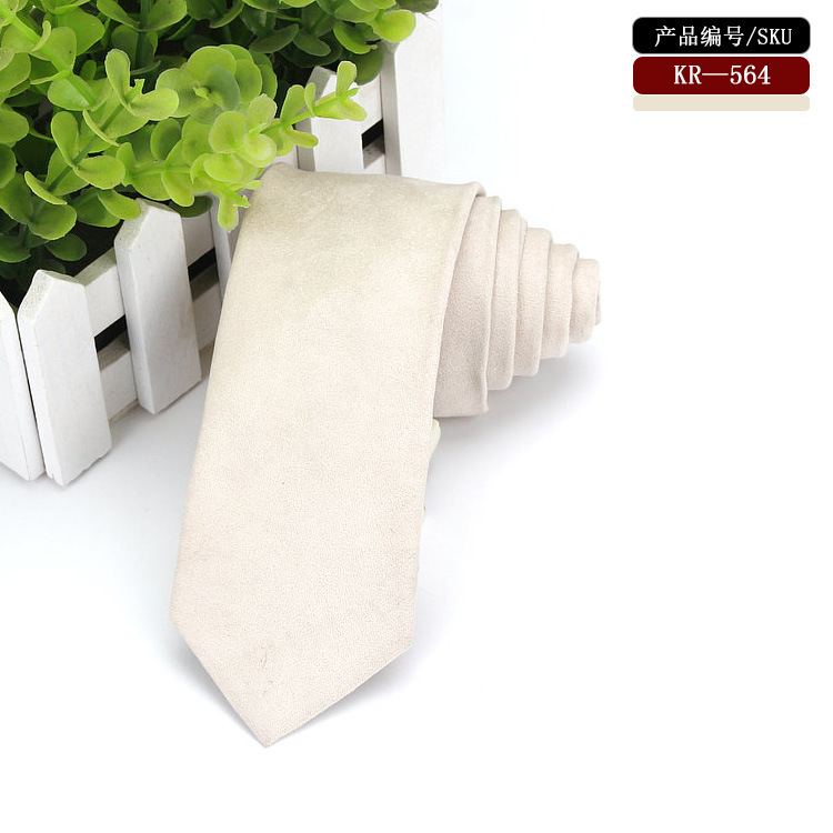 Stark White Tie For Man Micro Suede Vintage Skinny Leather Necktie  Perfect For Formal Events Business Meetings Or Weddings