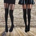 Nuevo Último Diseño Cómodo Medias Muy de Moda Con Dibujos de Panti Mock Liguero Medias para Mujer