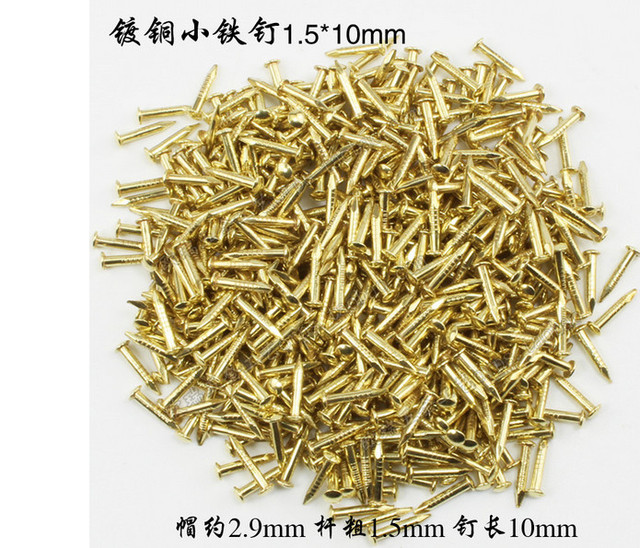 Hardware accessories Fasteners supplies Copper Plated Round headed ...
