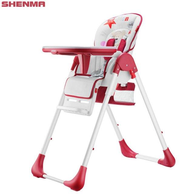 Shinema регулировки высоты обеденный стул многофункциональный детский стульчик складной портативный ребенок обеденный стол стул для 7-36month ребенка