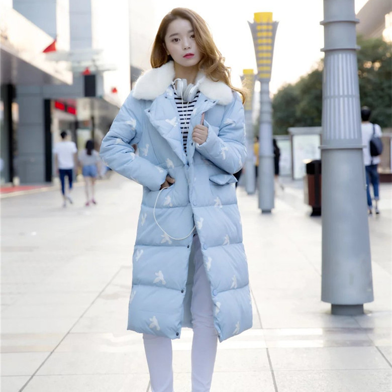 ФОТО 2016 Winter plus size clothing women cute hooded overcoat warm embroidery cotton-padded jacket coat wadded outwear outfit XXXXL