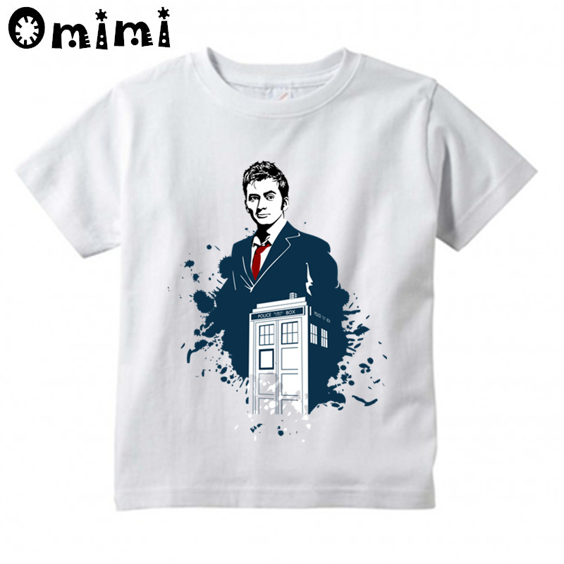 Children Doctor Who Design Tops Boys/Girls Casual T Shirt Kids DR WHO Daleks Exterminate To Victory Sitcoms T-Shirt
