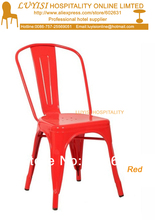 quality steel dining chair fully assembled Painting finish quick shipment
