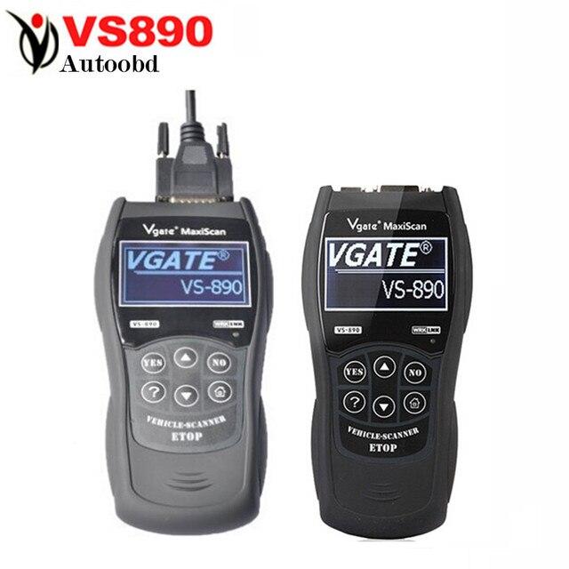 2016 VS890 OBD2 Code Reader Универсальный OBD2 Сканер многоязычная VGATE VS890 Автомобиля Диагностический Инструмент Vgate MaxiScan VS890