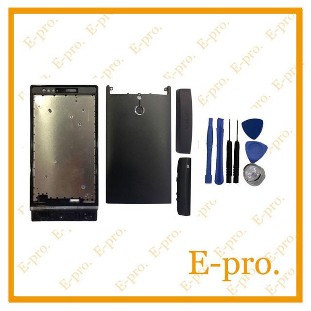 Nova Porta Da Bateria Habitação Para Sony Xperia P LT22 LT22i Habitação Completa Substituição de Habitação Completo + 3 Cores + ferramentas