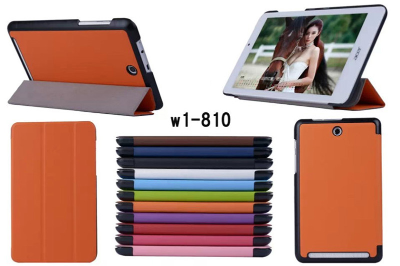 Ultra Slim Lightweight Magnetic Stand PU Leather Cover Funda Case For Acer Iconia Tab 8 W1-810 W1 810 8 inch Tablet + Film + Pen stand magnetic painted pu leather case for acer iconia one 8 b1 850 b1 850 8 0 tablet cover free screen protector touch pen