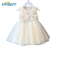 LONSANT Girls Dresses Summer Children Clothes Cute Lace Vestidos Sleeveless Vestido De Festa Infantil Ball Gown Dropshipping