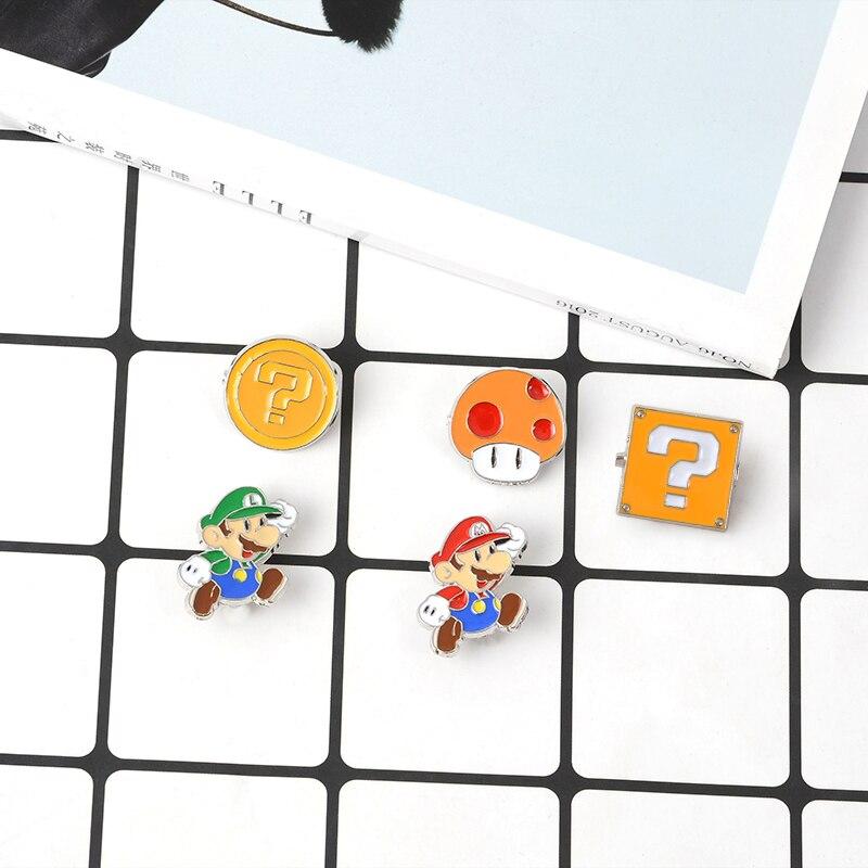 Blue Shell Enamel Pins Comics Video Game Boo Ghost Lapel Pins Custom Badge Button pin Denim PU coat Punk Brooch Gift 4