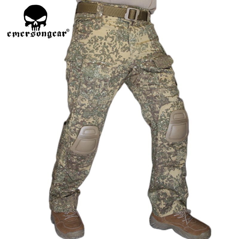 Men Military Hunting BDU Pants EMERSON Combat G3 Tactical Pants with Knee Pad Multicam Black AOR