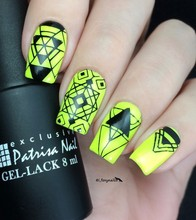 Negative Space Geometry Nail Stickers