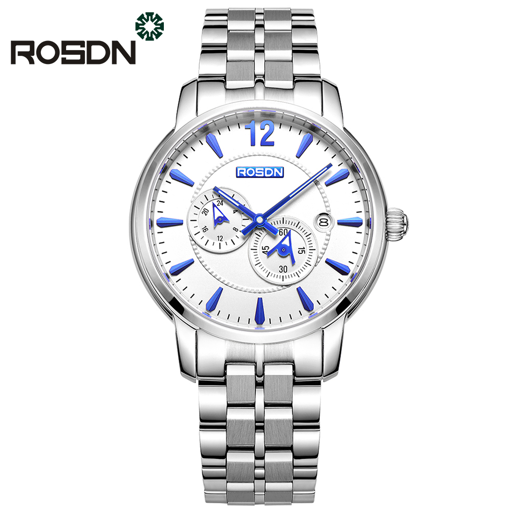 ROSDN Brand Watch Men Business Multifunction Automatic Mechanical wrist watch MIYOTA Movement Mens Watches Relogio Masculino
