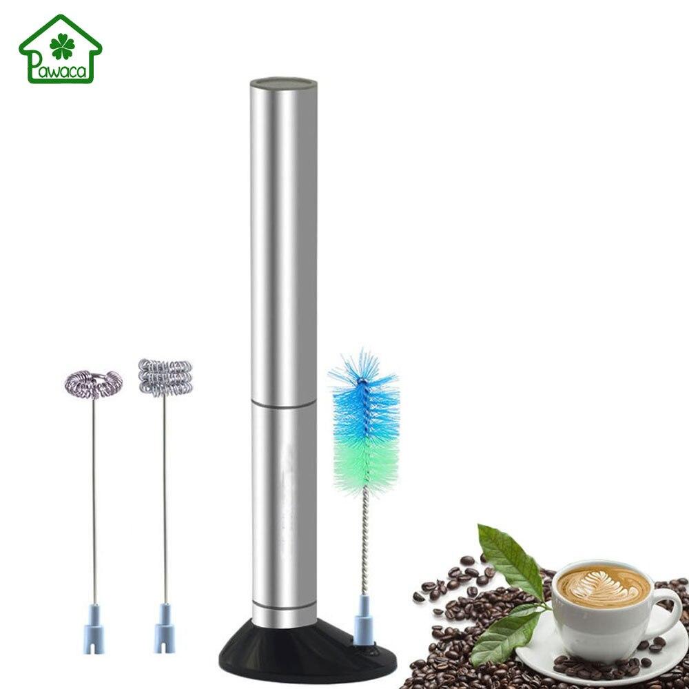 Edelstahl Elektrische Handheld Milchaufschäumer Schäumer Schneebesen Mixer Egg Beater Kaffee Maker Mixer Auto Rührer Küche Rühren Werkzeug