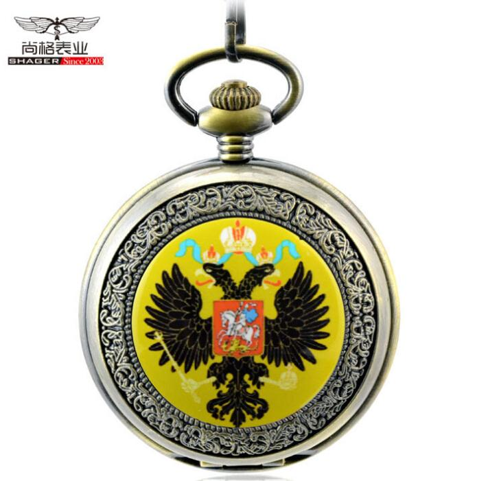 Russia eagle print antique steampunk pocket watch chain mens watches mechanical relogio de bolso male orologio da tasca steampunk antique silver mechanical skeleton pocket watch mens women watches vintage hollow pendant chain clock gifts retro