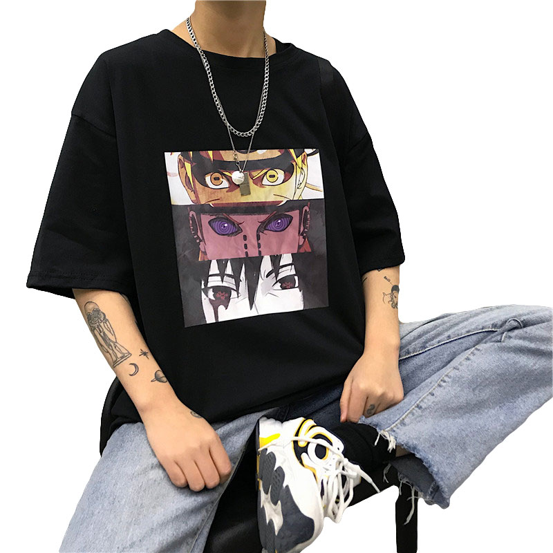 Naruto Cool   T     shirt   New Unisex Japanese Anime Tshirt Street Wear Summer Large Size Short Sleeve   T  -  shirt   for Men