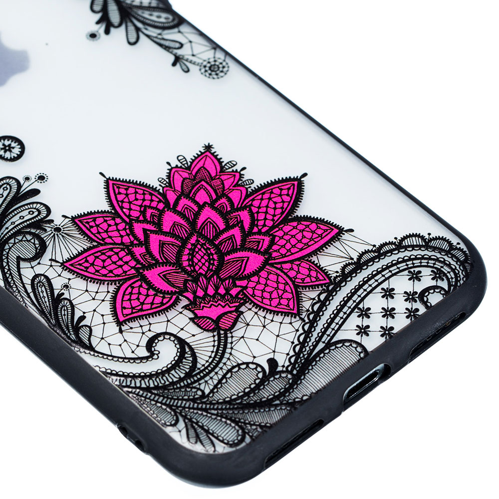 KIPX1059B_2_JONSNOW Phone Case for iPhone 5S 6S 7 8 Plus Emboss Floral Rose Lace Protective Case for iPhone X XR XS Max PC Back Cover