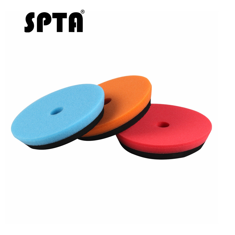 SPTA Compound Polishing Pads For 5 Inch Polisher Buffing Buffer Pad Set For DA / RO Dual Action Car Polisher Sander-Select Color