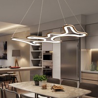 Designer Modern Led Chandelier Kitchen Living Dinging Room Light Fixtures LED Hanging Chandelier Lamp Luminaires White