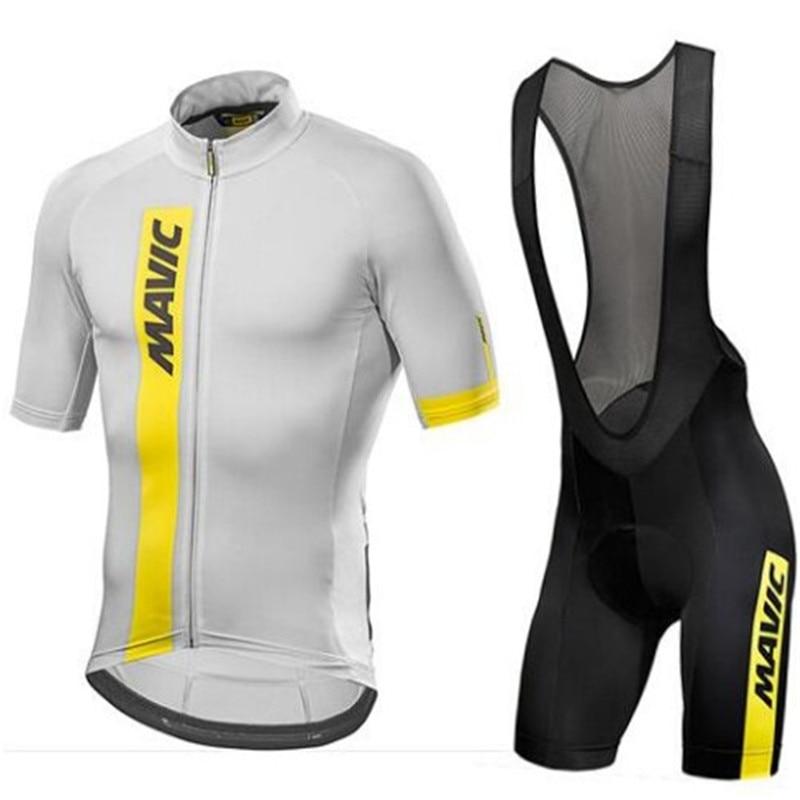 Mavic 2018Cycling Set Cycling Jersey Summer Team Short Sleeves Bike Clothing Ropa Ciclismo Cycling Clothing Sports Suit