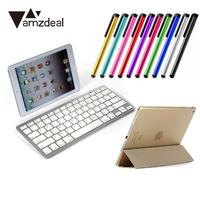 amzdeal For Apple iPad Air 2 Artificial Leather Protection Holder Case Cover +Keyboard Touch Pen Protector Film