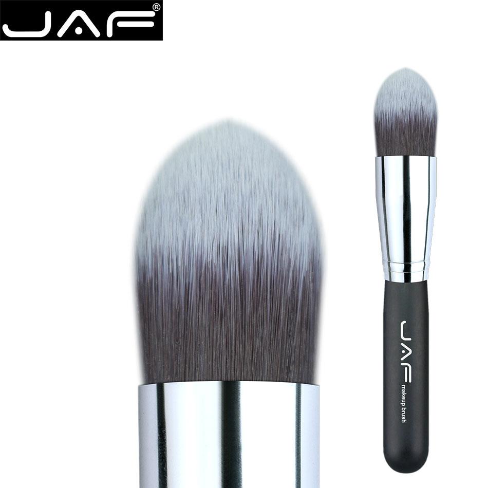 Jaf tapered kabuki pincel rostro maquillaje pinceles liquid base de maquillaje crema suave pelo sintético taklon pincel de cosmética profesional
