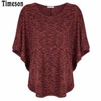 Timeson 2017 New T-Shirt Women Summer Batwing Sleeve Jumper T Shirt Feminina Loose Caual Tops Tee Shirts Femme O-Neck Shirt