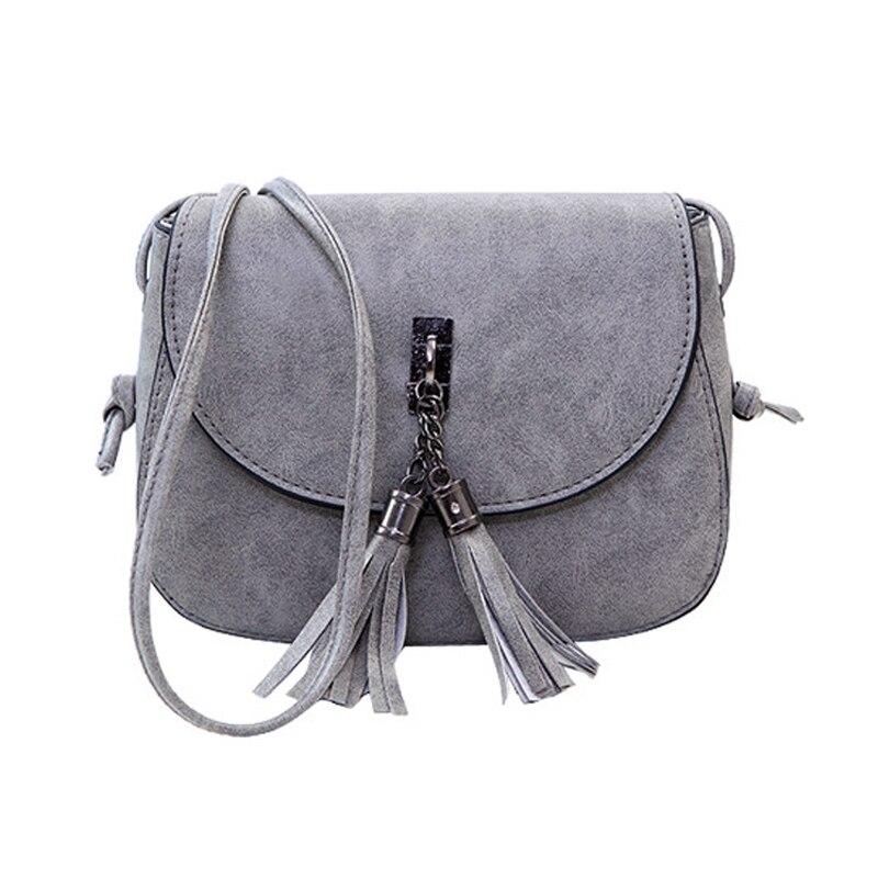 Women Messenger Bag PU Leather Tassels Handbags Phone Pouch Shoulder CrossBody Bags New