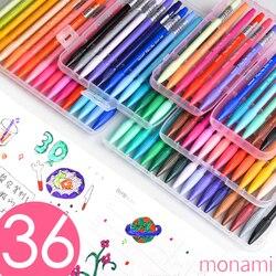 Zestaw długopisów Monami Color filc Tip do osobistego organizera szkic 0.5mm Multi color Liner Pigment na bazie wody akwarela 3000