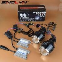 Universal Waterproof Bi Xenon Foglights Lens Projector Bifocal Driving Fog Lamps Car Motorcycle Aftermarket Retrofit Hi