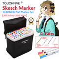 Touchfive Alcohol Markers 30/40/60/80/168Colors Dual Head Sketch Markers Brush Pen Set For Drawing Manga Design Art Supplies