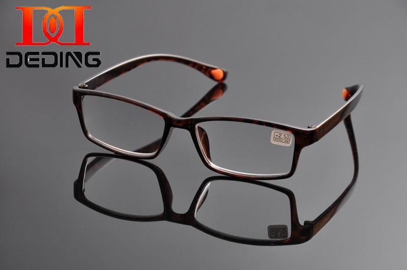 Deding Neupreis Verkauf Modische Unisex TR90 Hd Lesebrille Marke Männer Presbyopie Objektiv Gläser Stärke + 1,0- + 4,0 DD1192
