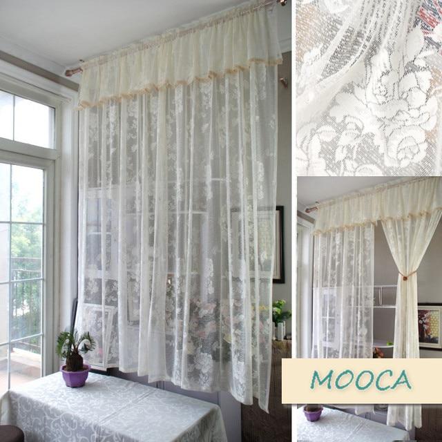 Ivoire blanc rideau en dentelle vintage rideau pour salon rideau ...