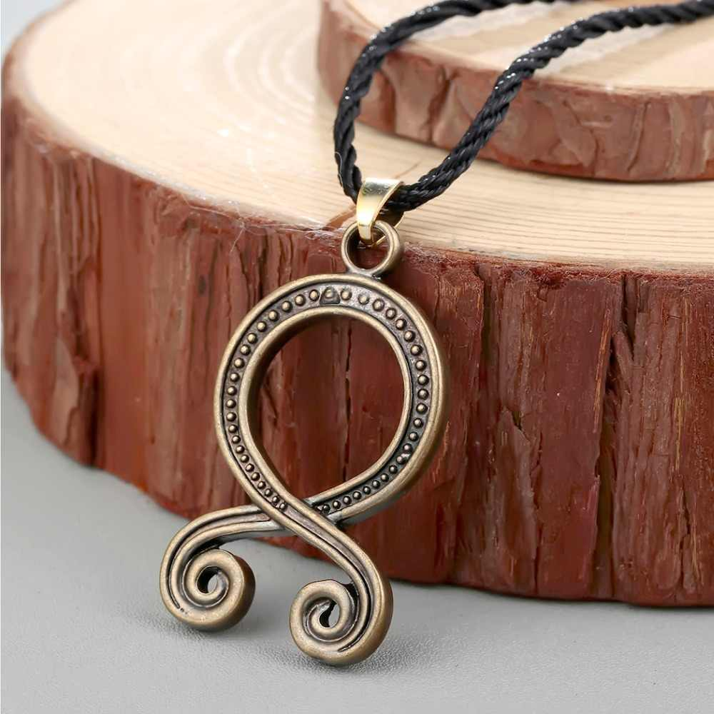 Cxwind Troll Cross Charm Necklace Retro Folklore Vikings Protection Pagan Symbol Runes Amulet Norse Pendants Necklaces Jewelry