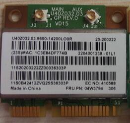 BroadCom BCM43142 BCM943142HM FRU:04W3837 Half Mini PCI-E Wlan WIFI Bluetooth4.0 Card For Lenovo B5400 M5400 M5400S M5400