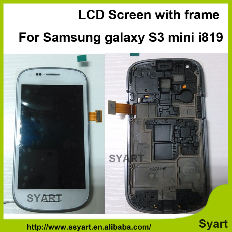 ФОТО Free DHL 10pcs/lot AAAA quality white Frame Complete Lcd display touch screen digitizer panel screen for samsung s3 mini i8190