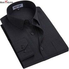 White/black Men Dress Shirt Formal Fashion Long Sleeve Brand Business Men Casual Shirt Regular Fit Plus Size 5XL 6XL BIANYILONG
