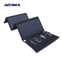 AIYIMA 24W Folding Solar Panel Charger Portable with Fast Charge 3 USB Port High Efficiency Sunpower Solar Panel for Cellphone