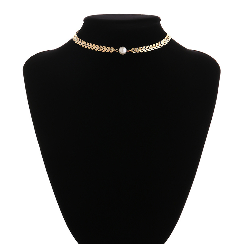 Multi Letters Chokers for Women 2020 New Fashion Punk Short Neclaces Middle Simulated-pearl Neck Accessories NT055
