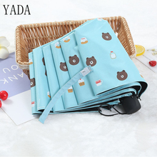YADA Design Cartoon Bear&Cake Pattern Folding Rainy Children Umbrella Anti-UV Rainproof Sun Protection Parasol YD005