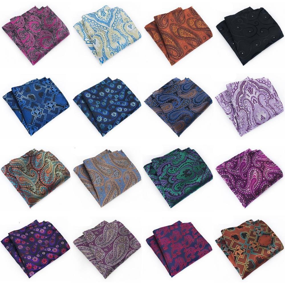 Multi Colors Men Paisley Floral Pocket Square Handkerchief Hanky Wedding Party BWTHZ0323