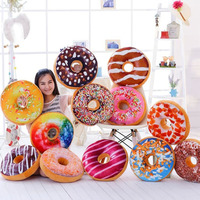 60cm donut pillow and cushion creative simulation donut shape plush toy kids doll office nap pillow best gift for girlfriend