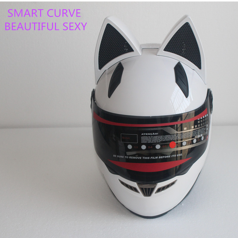 Full face motorcycle cat ear helmet 2