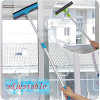 1pc limpador de janela de vidro 2 em 1 limpador de escova de limpeza ajustável punho longo banheiro escova de limpeza de parede dropshipping|window cleaner brush|cleaning brush|cleaner brush -