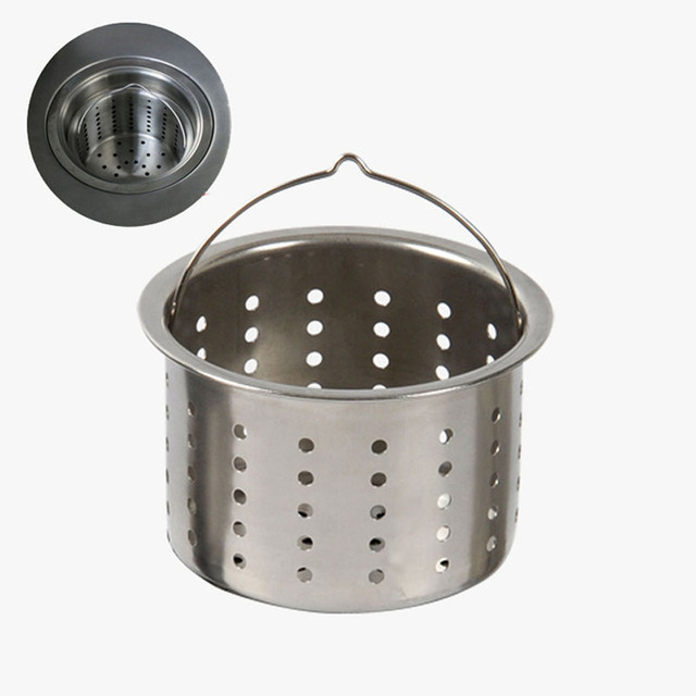 Stainless Steel Kitchen Sink Strainer Plug Water Sink Filter Drain Plug  Hair Catcher Cover Drainage Accessories