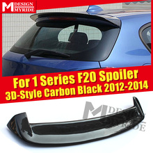Fits For BMW F20 Rear Spoiler wing True Carbon Fiber 3D-Style Duck Wing 1 Series 118i 120i 128i Rear Roof Spoiler Wing 2012-2014 carbon fiber 2010 2012 crz rear wing roof spoiler