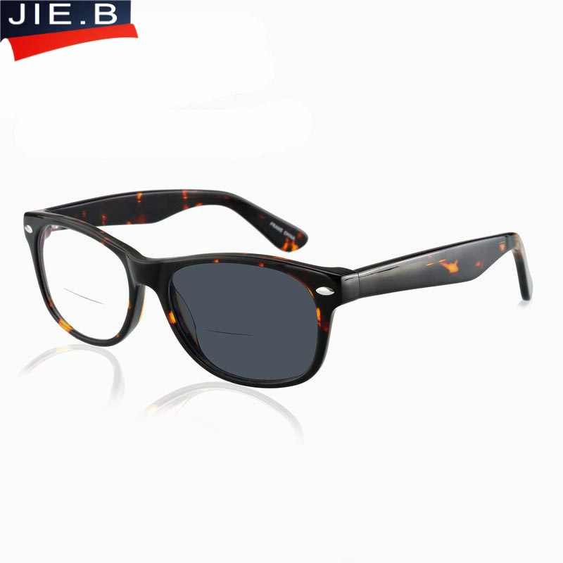 2807844654 Acetate Bifocal Presbyopic Eyeglasses Bifocal Sunglasses Photochromic Reading  Glasses +1.0 +1.5 +