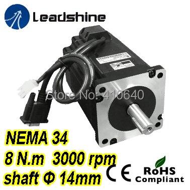 Leadshine легкий серво Двигатель замкнутый цикл шагового 3 фазы 863HBM80H-1000 с 220 и 230VAC 8 nm 1000 линия энкодера