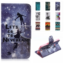 Fashion Magnetic Flip Stand Leather Wallet Soft Back Cover Phone Case For Microsoft Nokia Lumia 540 N540 Flowers Skin Cover Capa
